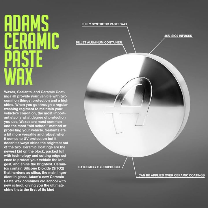 Adam S Ceramic Paste Wax Is A Fully Synthetic Formula That